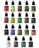 BLACKC PREMIUM E-Liquid für E-Zigaretten und E-Shishas, MADE IN GERMANY, Nikotinfrei, 19 Geschmackssorten, 20/50 ml Fläschchen (Erdbeercreme, 20)