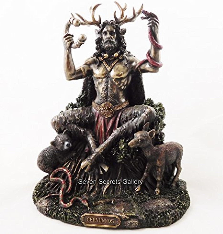 Bronzefigur von Cernunnos, Herrscher des Waldes, heidnischer Gott, Altar, Ornament