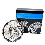 8 9 10 11 12 Fach Kassette, Mountain Bike Kassette,Bike-Speed Cassette, Hohlschlammablaufdesign,für MTB Bike, Rennrad,9 Speed Silver,11~32T