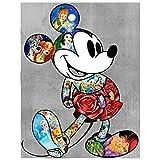 (19.7x27.6inch) Peinture 3D diamant bricolage mosaïque 5D'Mickey Mouse' broderie...