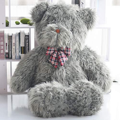 HUOQILIN Panda Plüsch Plüschtiere, Riesen/Große Weiche Spielzeug, Stofftiere Tragen Hug Kissen Kuscheltier Plüschkissen (grau/Braun) (Color : Gray, Size : 160cm)