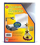 """Hygloss Products Overhead Projector Sheets Acetate Transparency Film, For Arts And Craft Projects and Classrooms, Not for Printers, 8.5"""" x 11"""", 10 Sheets"""