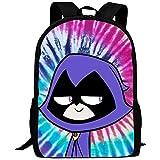 hengshiqi Mochila Backpack, College Bookbag,Teen Titans Go Raven Fashion School Bag for Adult