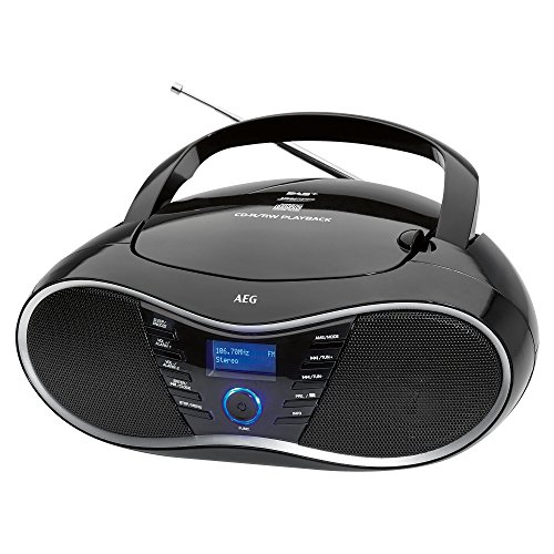 AEG SR 4380 Stereo-Radio/Boombox mit CD, DAB+, MP3, AUX-IN, 20 Senderspeicher, LED-Display