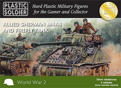 Plastic Soldier 15mm Sherman M4a4 And Firefly Tank # 15011 by Plastic Soldier Company