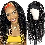 Pelucas mujer pelo afro natural rizado 26inch(66cm) ondas pelo human hair wig con cintas pelo mujer peluca rizos negra deep curly hair(color natural)