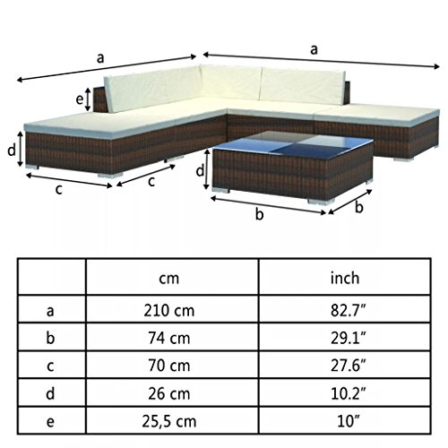 Nishore 15 STK. Rattan Lounge Set Gartenmöbel Loungemöbel Loungeset Loungegruppe - 3