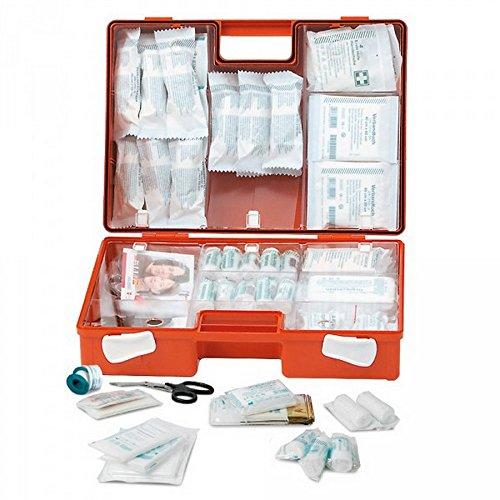LEINA-WERKE 21065 MULTI Erste Hilfe-Koffer Mit Druck: 2-Farb, Mit Inhalt: DIN 13169, Orange