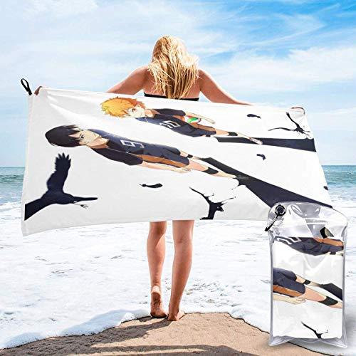 RTRTRT Shoyo Tobio Haikyuu - Toalla de playa de microfibra de secado rápido de 28 x 55 pulgadas, toalla súper absorbente, toalla sin arena, para niños, adolescentes, adultos, viajes, gimnasio, camping