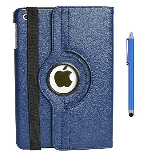 flyorigin Cover Case Custodia per iPad Mini Mini3 mini2 mini1,in Pelle PU La Rotazione a 360 Gradi Bene funzionante,Supporto per Tenere L'iPad sollevato,Magnetico per Sleep e Standby