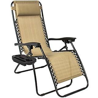 عروض Best Choice Products Set of 2 Adjustable Zero Gravity Lounge Chair Recliners for Patio, Pool w/Cup Holders - Beige