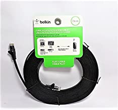Belkin Premium CAT5e Networking 25 ft Flat Cable in Black