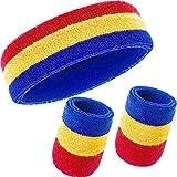 LXYY Deportes Sweatband Muñequera de Diadema Set para Tenis Gimnasia Fútbol Baloncesto Correr Deportes atléticos