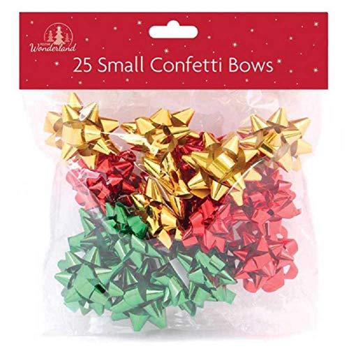 25 Coccarde Da Regalo Grandi, Colore Verde, Rosso E Oro, Per Regali Di Natale