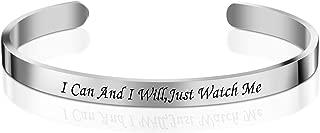Personalized Cuff Bracelets Bangle for Girls Women Men Best Friend Stainless Steel Adjustable Engraved
