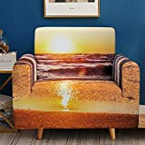 HXTSWGS Funda de sofá de Terciopelo,Fundas 3D para sofás, Funda de sofá elástica elástica, Funda de sofá de 1/2/3/4 plazas, Fundas de sofá para salón-1-asiento 90-140cm_