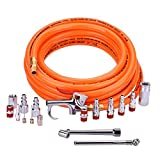 WYNNsky 3/8' X 25ft PVC Air Compressor Hose Kit With 17 Piece Air Tool and...