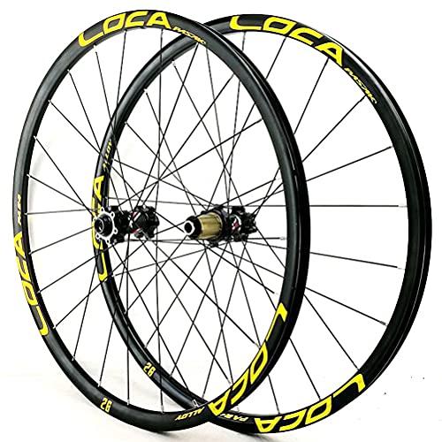 Zatnec Ciclismo Ruedas Rueda Bicicleta 26/27.5/29 Pulgadas Montaña Freno Disco Volante Cassette 7/8/9/10/11/12 Velocidad Llantas Delantera Y Trasera Eje Pasante 1600g (Color : F, Size : 29inch)