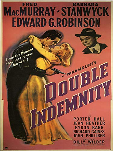 American Gift Services - Double Indemnity Vintage Movie Poster - 24x36