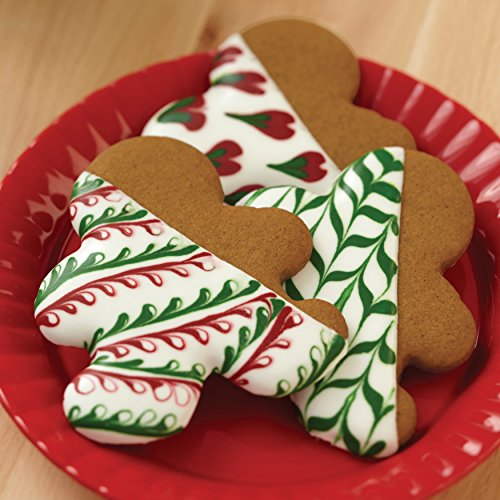 Wilton Red and Green Holiday Cookie Decorating 6 Icing Multipack, Assorted