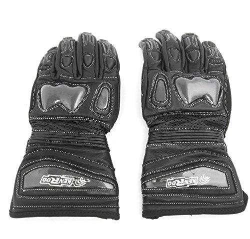 KENROD Motorradhandschuhe Anti-Rutsch-Motorradhandschuhe mit Protektoren Farbe Schwarz Größe S