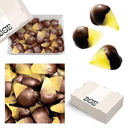 Bulk Gourmet Emporium - Belgische kandierte Birnen, eingetaucht in dunkle Schokolade, kunststofffrei, vegetarisch und halalfreundlich, Frucht mit Schokoladenüberzug, 1000 g