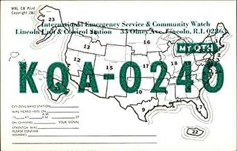 My QTH - KQA-0240 Lincoln, Rhode Island RI Original Vintage Postcard
