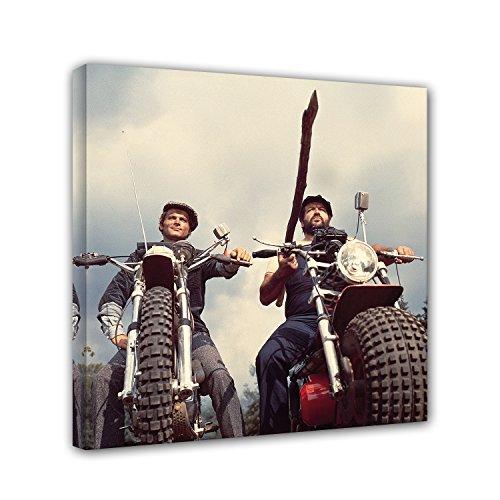Bud Spencer Terence Hill - Zwei wie Pech & Schwefel - Motorrad - Leinwand (60 x 60 cm)