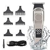 Cortapelos para hombres, cortador de barba con cuchillas afiladas de por vida, cortadores de cabello...