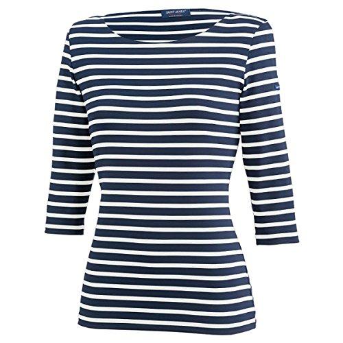 Saint James Damen Shirt 3/4 Arm Garde Cote III R in Blau-Weiß Größe 40 (T 42)