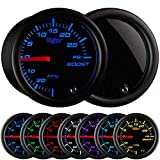 GlowShift Tinted 7 Color 30 PSI Turbo Boost / Vacuum Gauge Kit - Includes Mechanical Hose ...