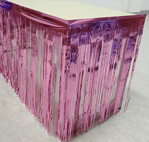 Blukey - Party-Tischröcke in Rose, Größe 3 Pack 29x108-Inch