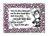 sheepworld Postkarte 'Ich hab dich lieb!' Nr. 58