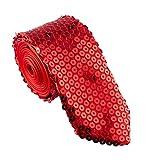Tie - Sequin - Red