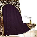 CLYDX Cortinas Opacas Estilo Arabe Tapestry de Dormitorio Moderno Térmicas Aislantes Luz para Habitación Suaves con Ojales 2 Paneles 110x215 cm