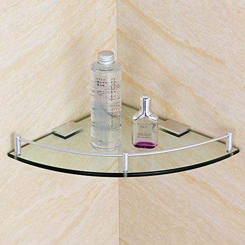 JSMY Baño de Vidrio Baño Ducha Estante Triangular Organiza