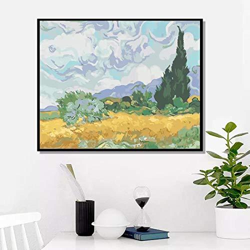 DERFV La vajilla de Pintura al óleo del Famoso Pintor de Van Gogh Que refleja Las Condiciones sociales Reales