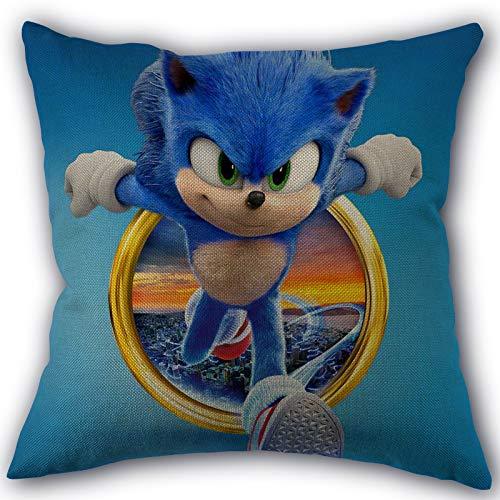Almohada sónica Sonic The Hedgehog Funda de Almohada Textiles para el hogar Tela de Lino de algodón Decoración de un Lado Fundas de Almohada
