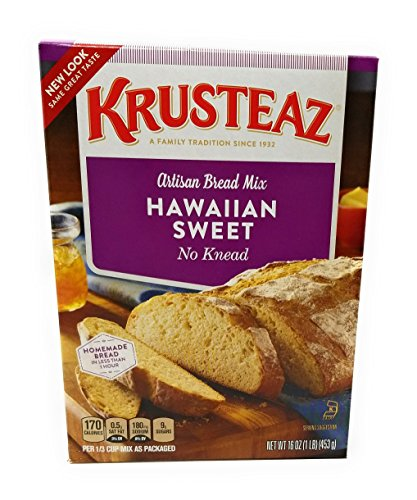 Krusteaz No Knead Hawaiian Sweet Bread Mix (16 oz Boxes) 2 Pack