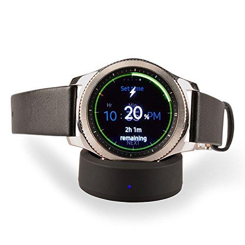 Qi Wirless Charger Draadloze Opladen Dock Cradle Oplader voor Samsung Gear S3/S2 Klassiek, Gear S3/S2 Frontier Horloge