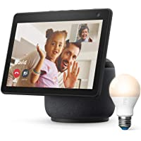 Echo Show 10 (3rd Gen) + Ring A19 Smart LED Bulb