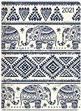 Ladytimer Elephants - Taschenkalender A6 - Kalender 2021 - Alpha Edition-Verlag - Eine Woche auf 2 Seiten - Buchplaner mit Lesebändchen und Platz für Notizen - Format 11 cm x 14,8 cm - Buchkalender