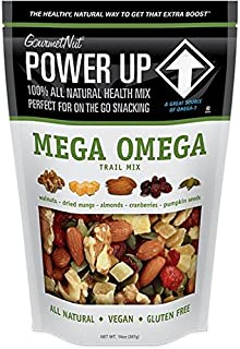 Power Up Trail Mix - Mega Omega, 100% All Natural Trail Mix (Pack of 2)