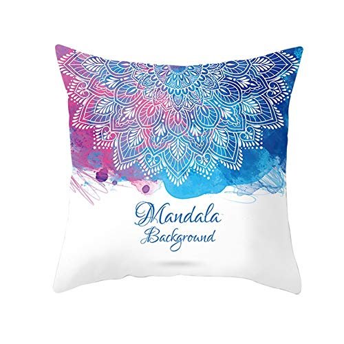 Pillowcases Square Throw Pillow Case Set Flowers Pink Blue Rendering For Home Sofa Bedroom Bed Car Livingroom Decorative,Cozy Cotton Linen Christmas Throw Pillow Case Indoor & Outdoor C9478 40X40Cm