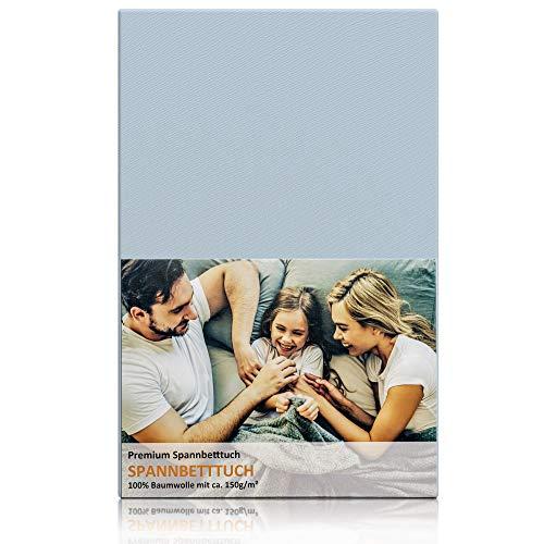 Blossom N8 Premium Spannbettlaken / für Babybett und Kinderbett / aus 100% Baumwolle Zertifiziert / Premiumqualität mit ca. 150 gr/m² / passend für Zwei Größen 60x120 und 70x140 / in Pastell