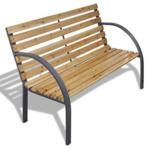 Tuinbank 112 cm hout en ijzer
