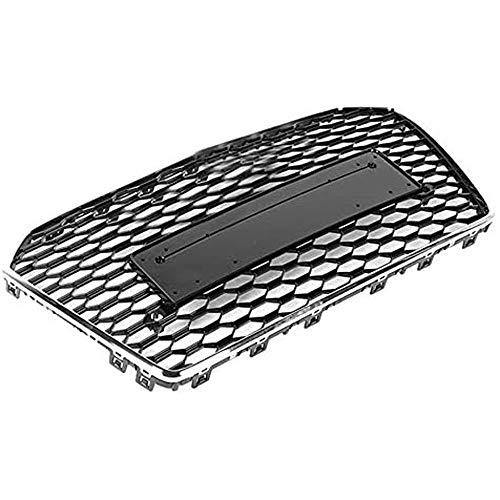 512m1Zi30KL - BTSDLXX Auto Front Sport Kühlergrille, für Audi A6 / S6 C7 2015 2016 2017 2018 Nierengitter Stoßstangengrill Kühlung Kühler Luftansauggitter Dekoratives Zubehör, Schwarz, ABS