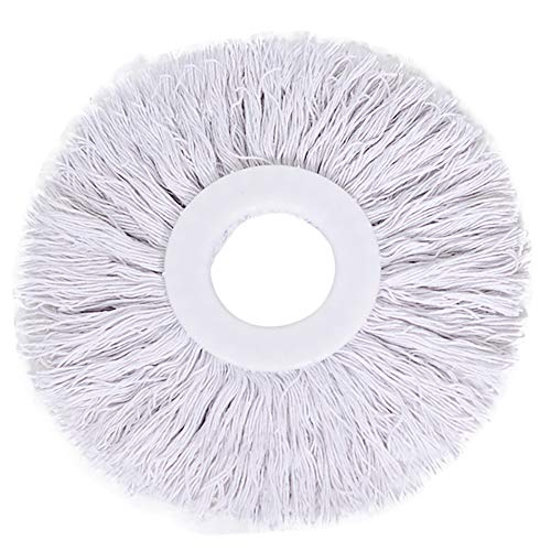 Freesa Superfine Cotton Mop Head New Replacement 360 Rotating Head Easy Magic Microfiber Spinning Floor Mop Head (White)