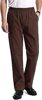 IDEALSANXUN Men's Elastic Waist Denim/Twill Casual Pants