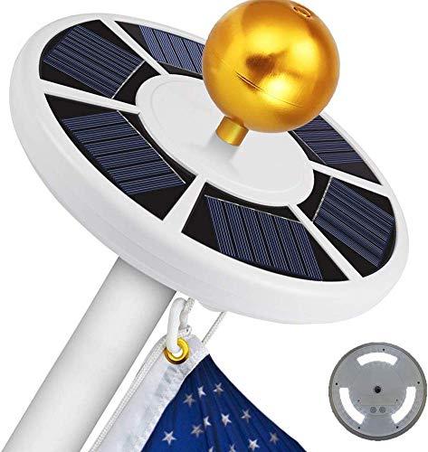 HJJH Solar Flag Pole Light, Luce da Incasso Energy Saving Impermeabile con Gancio per Il Campeggio Esterno per in-Terra del 15-20 Ft Interrata Bandiera Poli Auto on off Notte Illuminazione